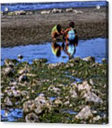 Beach Play Acrylic Print