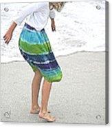 Beach Play Time Acrylic Print