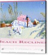Beach Recliner Poster Acrylic Print