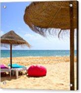 Beach Relaxing Acrylic Print