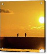 Beach Romance At Sunset Acrylic Print