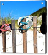 Beach Sandels  Acrylic Print