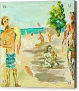 Beach Scence Acrylic Print
