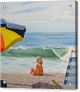 Beach Scene - Childhood Acrylic Print