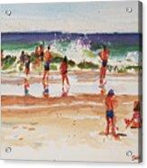 Beach Scene, Afternoon Acrylic Print