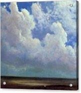 Beach Scene Albert Bierstadt Acrylic Print