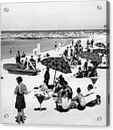 Beach Scene At Cape Cod Acrylic Print