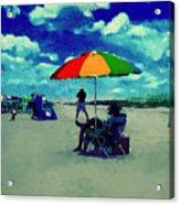 Beach Scene Pawleys Island Sc Acrylic Print