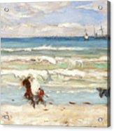 Beach Scene Tangier Acrylic Print