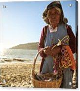 Beach Seller Acrylic Print
