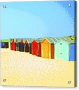 Beach Shacks Down Under Acrylic Print