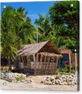 Beach Side Nipa Hut Acrylic Print