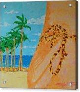 Beach Side View Acrylic Print