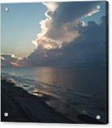 Beach Silver Lining  Acrylic Print