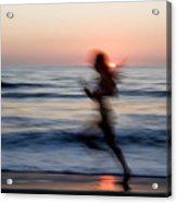 Beach Sprint Acrylic Print