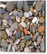 Beach Stones And Pebbles Acrylic Print by Sophie De Roumanie