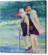 Beach Strollers II Acrylic Print