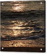Sunrise Ocean Wave Reflection 1 Acrylic Print