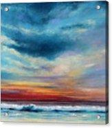 Beach Sunset Acrylic Print by Prashant Shah