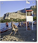 Beach Throw Down Acrylic Print