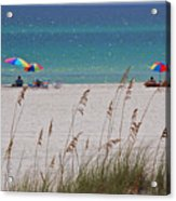 Beach Time At The Gulf - Before The Oil Spill Disaster Acrylic Print