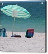 Beach Time Is Near Acrylic Print