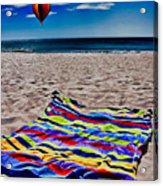 Beach Towel Acrylic Print