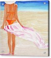 Beach Towel Acrylic Print