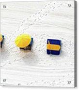 Beach Tracks Acrylic Print