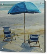 Beach Umbrella - Hilton Head Acrylic Print