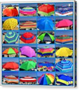 Beach Umbrella Medley Acrylic Print
