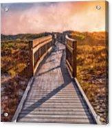 Beach Walk In The Dunes Acrylic Print