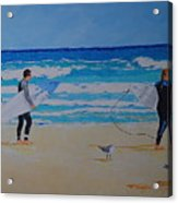 Beach Walkers  Acrylic Print