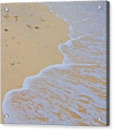 Beach Water Curves Acrylic Print