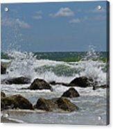 Beach Waves001 Acrylic Print