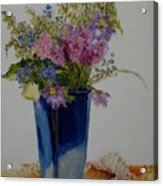 Beach Wildflowers            Copyrighted Acrylic Print