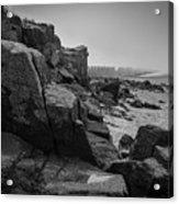 Beach With Anti-pylons Acrylic Print