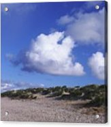 Beach With Clouds Acrylic Print