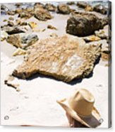 Beach Woman Acrylic Print by Jorgo Photography - Wall Art Gallery