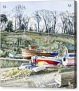 Beached Boats Dysart Acrylic Print