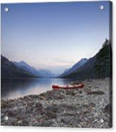 Beached Canoe Awaits Nightfall Acrylic Print by Royce Howland