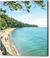Beaches Of The Pacific Northwest Acrylic Print