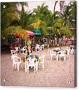 Beachfront Cafe Acrylic Print