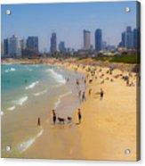 Beachfront In Tel Aviv  Acrylic Print