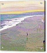 Beachgoers 1 Acrylic Print