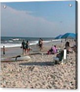 Beaching On The Atlantic Ocean Acrylic Print