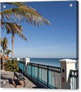 Beachland Boulevard At Vero Beach In Florida Acrylic Print