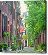 Beacon Hill Acrylic Print by Susan Cole Kelly