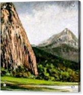 Beacon Rock Washington Acrylic Print