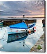 Beadnell Harbour Sunset Acrylic Print